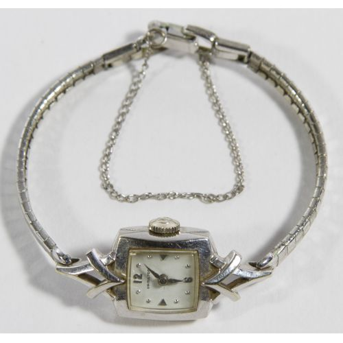 Biggs Hamilton 14k White Gold Cased Wrist Watch