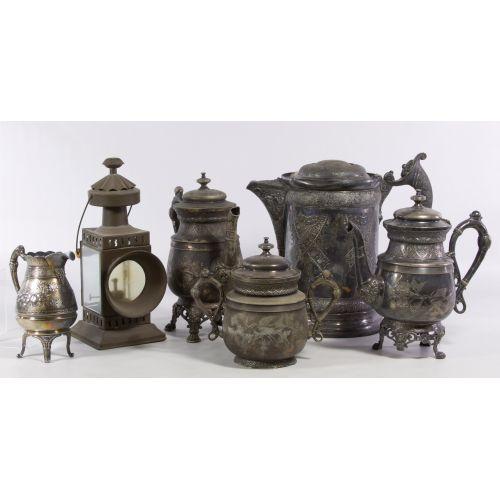 Serby Silver Co. Quadruple Silverplate Coffee Set