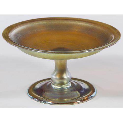 Louis Comfort Tiffany Gold Aurene Compote