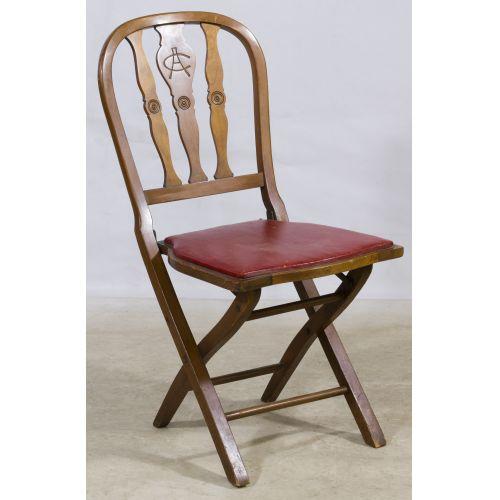 Walnut Folding Chair by The Phoenix Chair Company