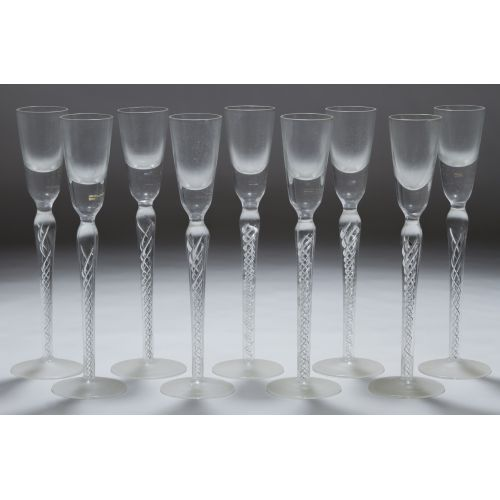 Twisted Stem Cordial Glasses