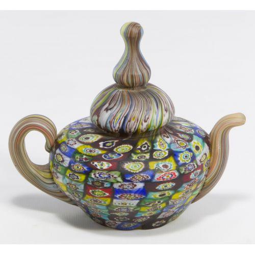 Millefiori Art Glass Teapot