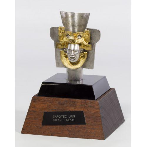 Lunt-Tane Sterling Silver Zapotec Urn Replica