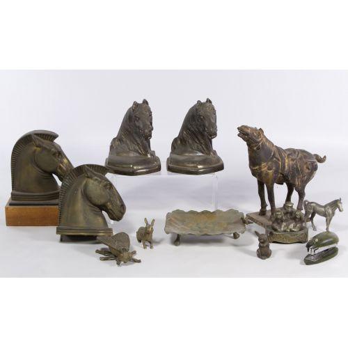 Metal Figurine and Desk Accessory Assortment
