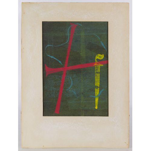 "Joe Zielanski (20th Century) ""Abstract Shapes"" Print"