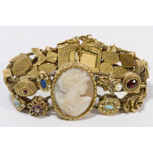 Goldette Cameo Slide Bracelet