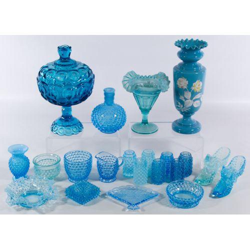 Blue Glass Assortment