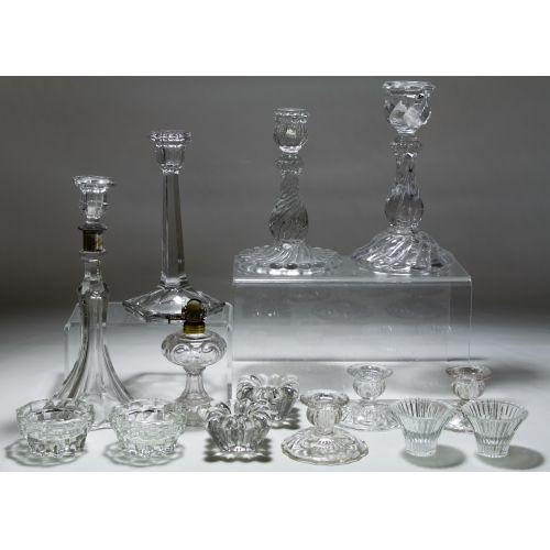 Clear Glass Candlestick Assortment