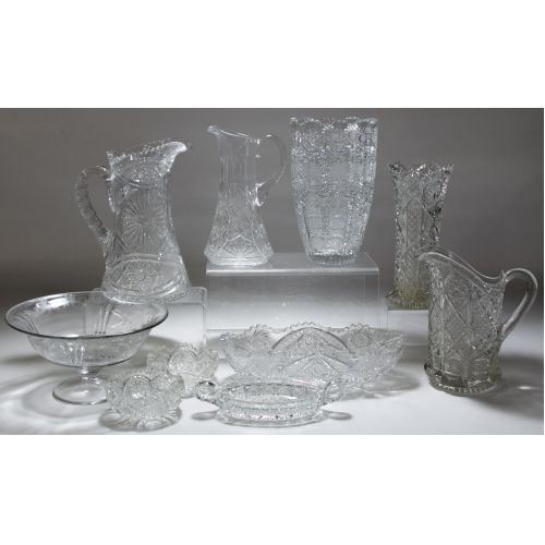 Cut Crystal and Depression Glass Assortment
