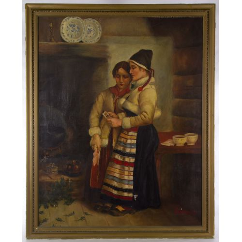 European School (Early 20th Century) Oil on Canvas
