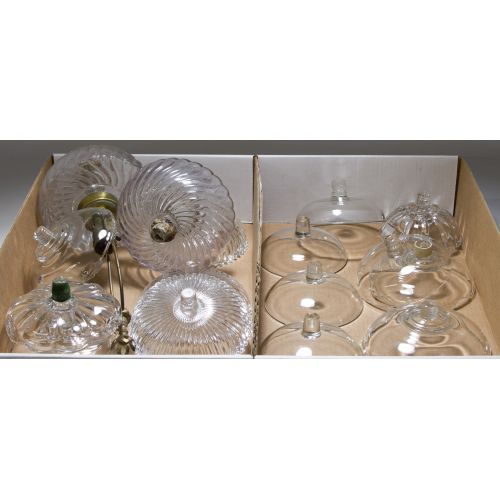Glass Oil Lamp Parts and Candelabra Bobeche Assortment