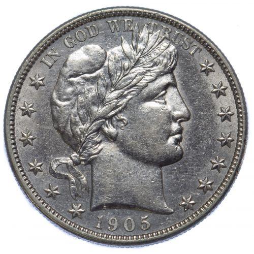 1905-S 50c AU Details