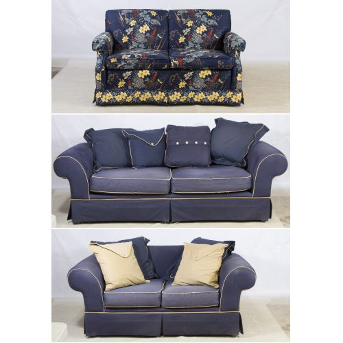 Upholstered Sofa and Loveseat by Broyhill with Loveseat by Ethan Allen