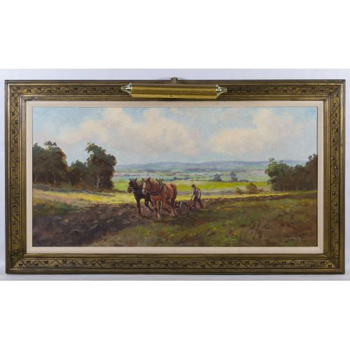 "G. Winkelberg (20th Century) ""Farm"" Oil on Canvas"