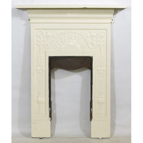 Cast Iron Mantel and Fireplace Surround