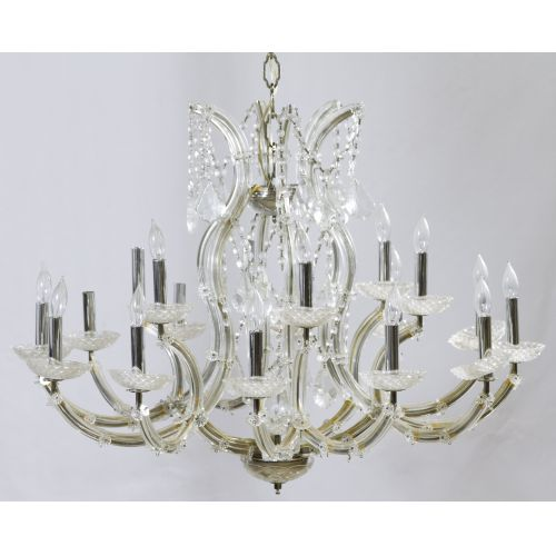 Glass Chandelier by Cristal