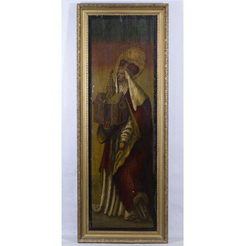 Religious Icon Oil on Wood Panel