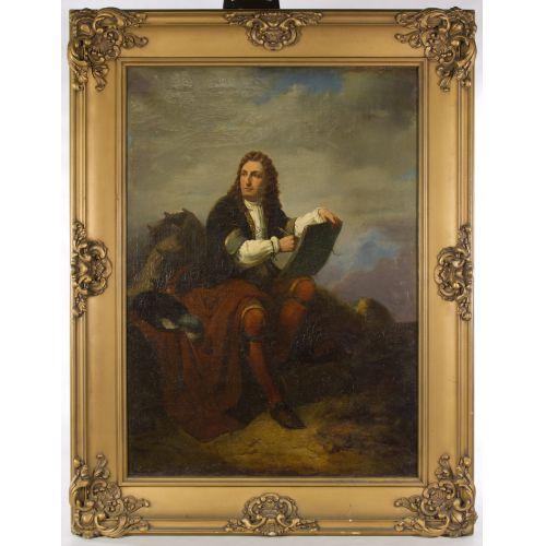 "European School (19th Century) ""Nobleman"" Oil on Canvas"