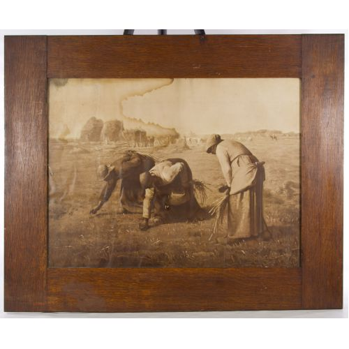 """Jean-Francois Millet (French, 1814-1875) """"The Gleaners"""" Print"""