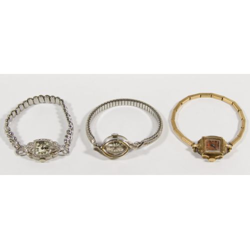 Ladies 14k Gold Cased Wrist Watch Assortment