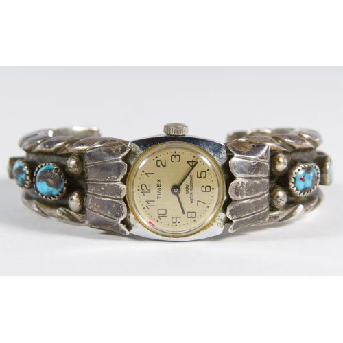 Sterling Silver Watch Band with Timex Watch