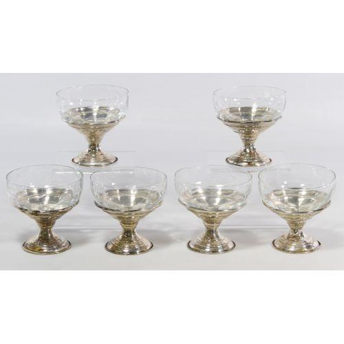 Sterling Silver Based Sherbert Glasses