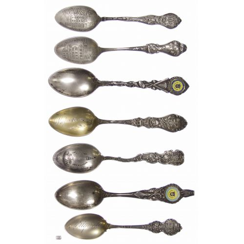 Sterling Silver Souvenir Spoon Assortment