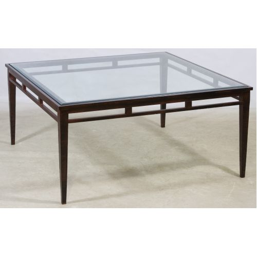 Painted Metal and Glass Coffee Table