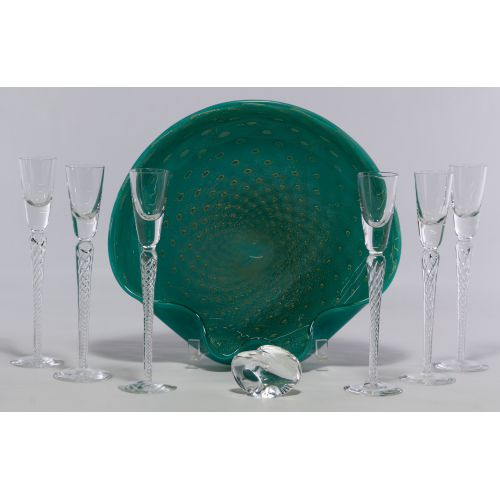 Air Twist Cordials and Art Glass Assortment