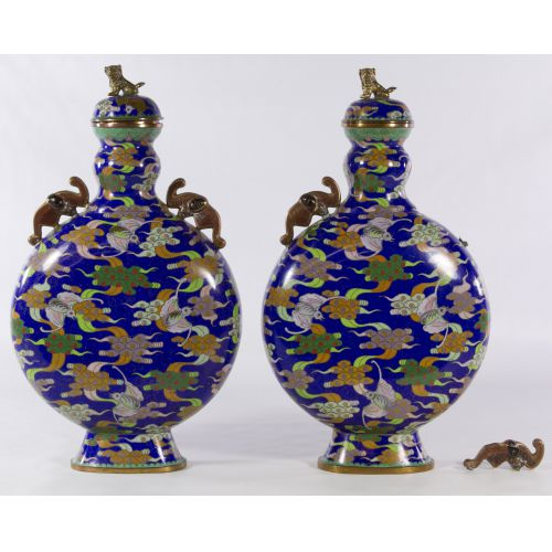 Chinese Cloisonne Urns