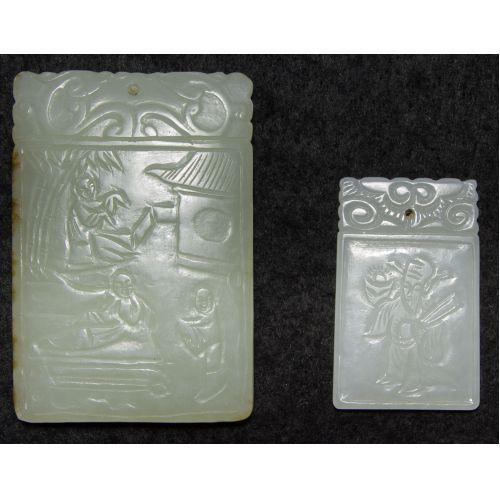 Asian Carved Jadeite Jade Pendants