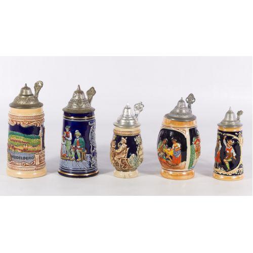 German Ceramic Beer Steins