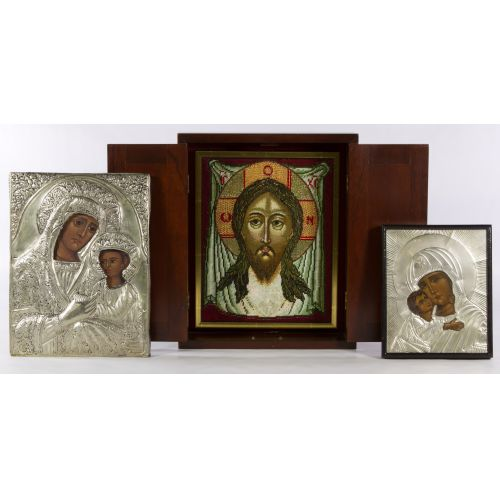 Russian Icons and Needlepoint Assortment