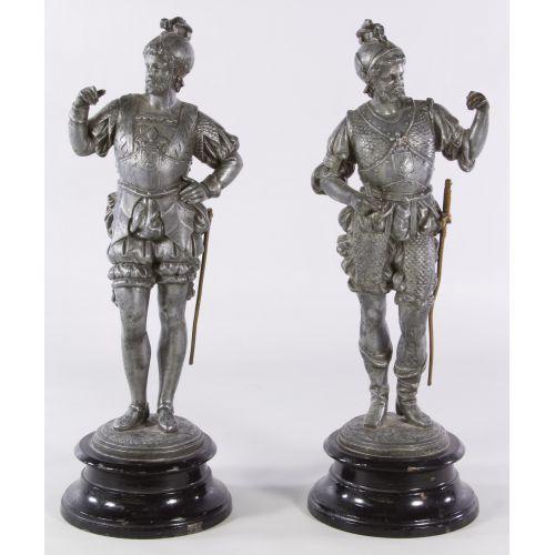 Metal Soldier Statues