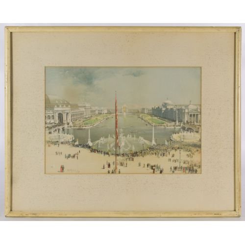 "H D Nichols (19th Century) ""Colombian Exposition"" Print"