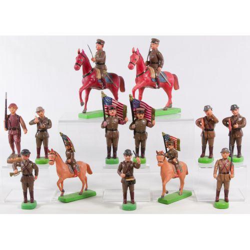 Pre-World War II Japanese Celluloid Toy Soldier Assortment