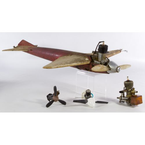 Gas Powered Tether Toy Airplane with McCoy Testers Engine