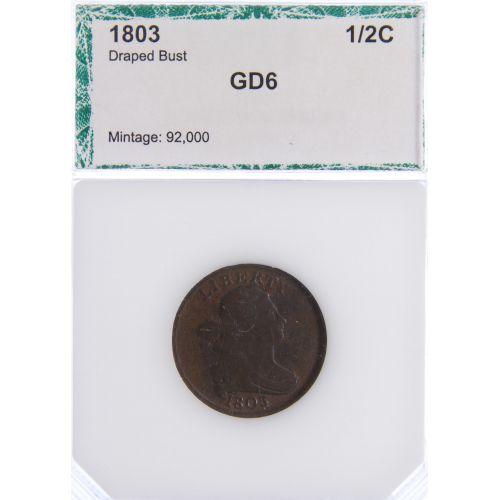1803 1/2c G-6 PCI
