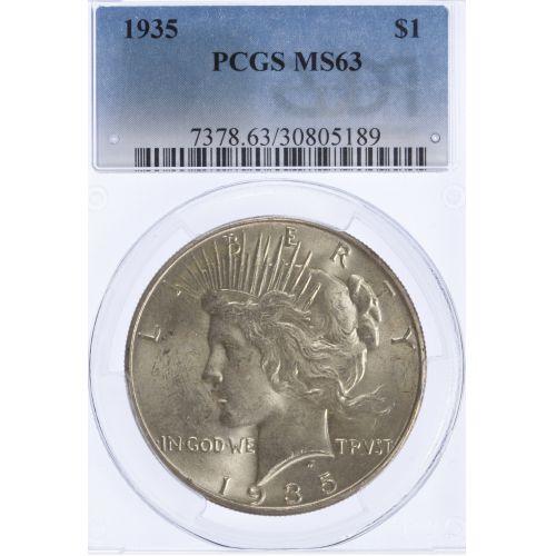 1935 $1 MS-63 PCGS