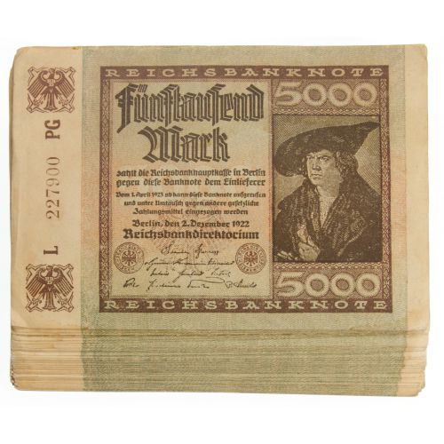 1922 German 5000 Mark Banknotes P81