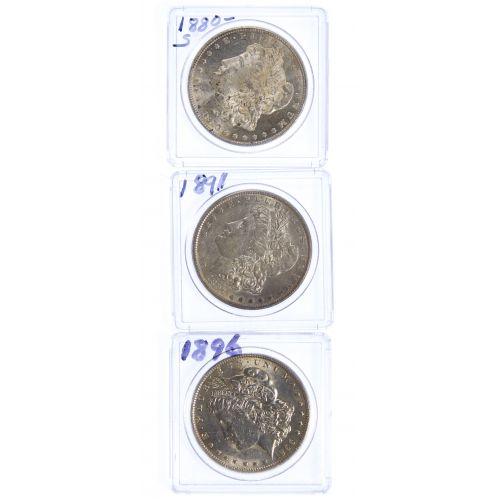 1880-S, 1891, 1896 $1