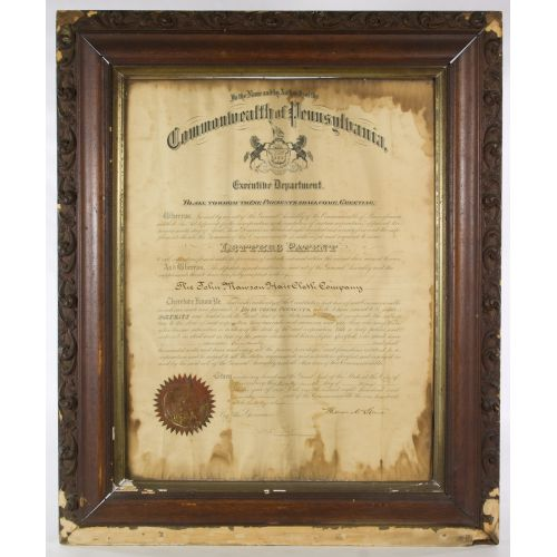 Patent Document and Antique Deed