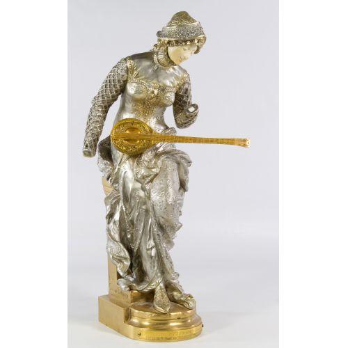 "Louis Carrier Belleuse (1848-1913) ""Melodie"" Bronze Statue"