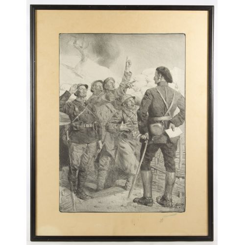 Lucien Hector Jonas (French, 1880-1947) World War I Lithograph