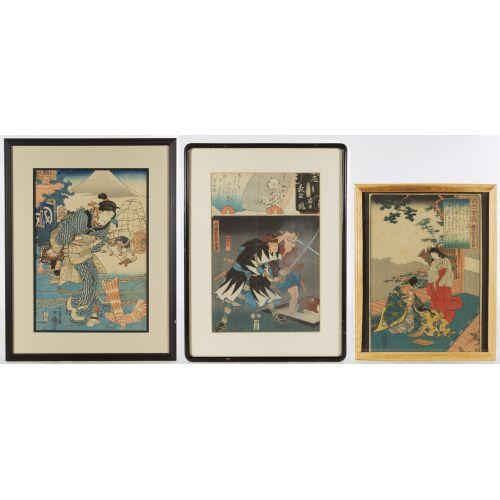 Kuniyoshi (Japanese, 1797-1861) Print Assortment