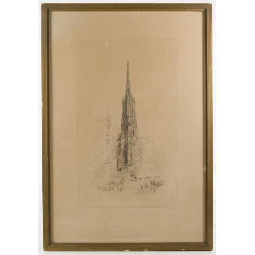 "Unknown Artist (19th/20th Century) ""Church"" Etching"