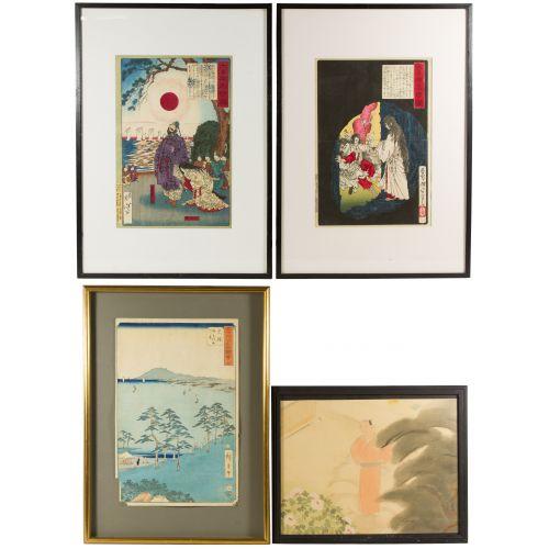 Yoshitoshi (Japanese, 1839-1892) Print Assortment