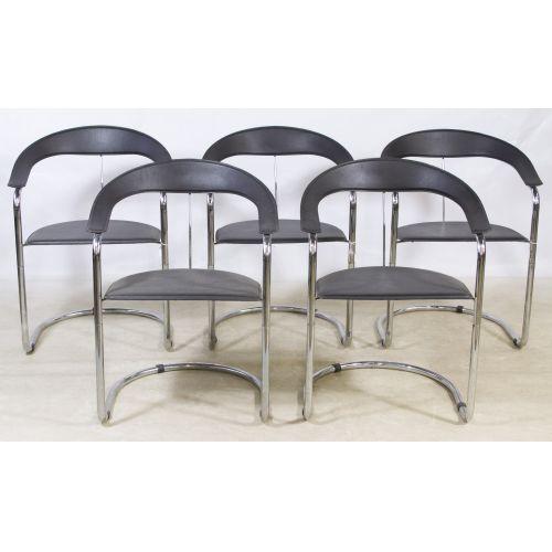 Mid-Century Modern Chrome Chairs