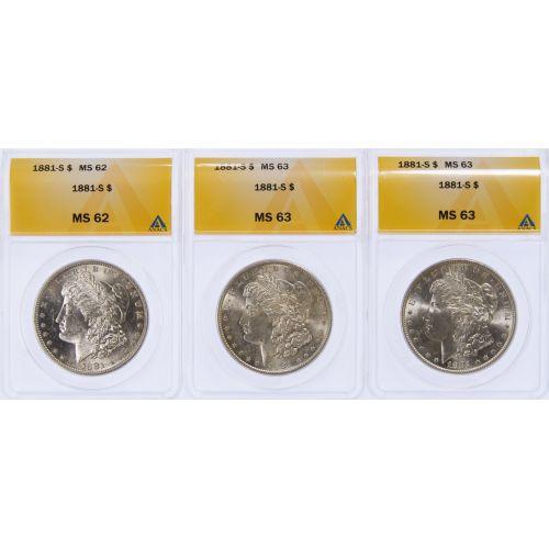 1881-S $1 MS-62/63 ANACS