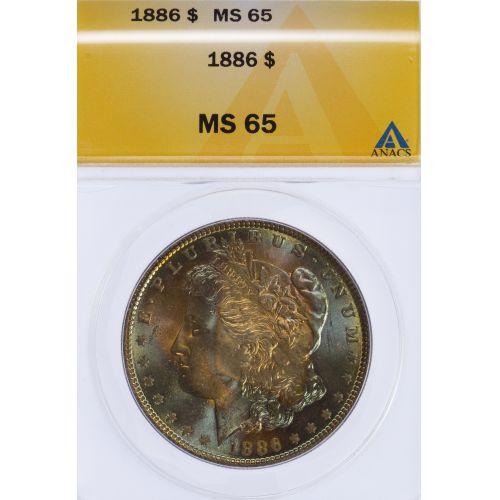 1886 $1 MS-65 ANACS